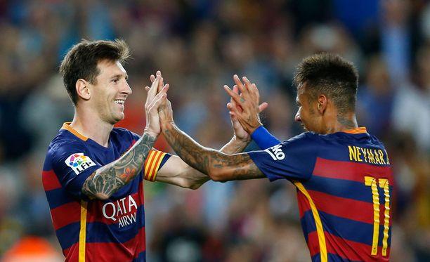 Lionel Messin ja Neymarin suoritukset ovat jäleen suomalaisten nähtävillä.