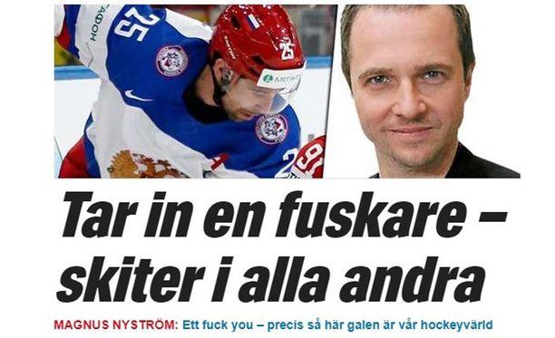 Expressen ei iloitse Zaripovin NHL-kuvioista.