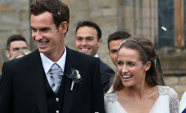 Andy Murray ja Kim Sears ovat nyt naimisissa.