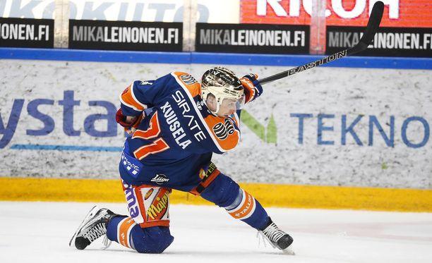 Kristian Kuusela on tehnyt pudotuspeleissä 42 maalia.