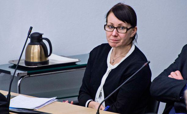 Sosiaali- ja terveysministeri Hanna Mäntylä (ps) ilmoitti tiistaina eroavansa pestistään. Arkistokuva.