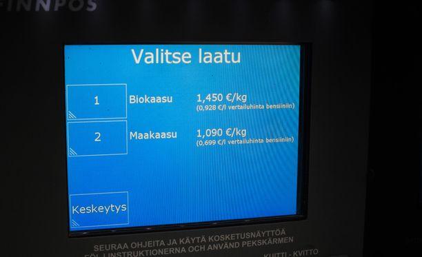 Valinta kotimaisen biokaasun ja venäläisen maakaasun välillä.