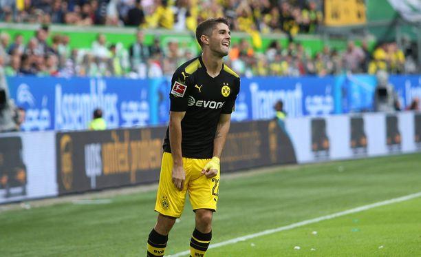 Hyökkäävä keskikenttäpelaaja Christian Pulisic oli kovassa vireessä Bundesliigan avauskierroksella.
