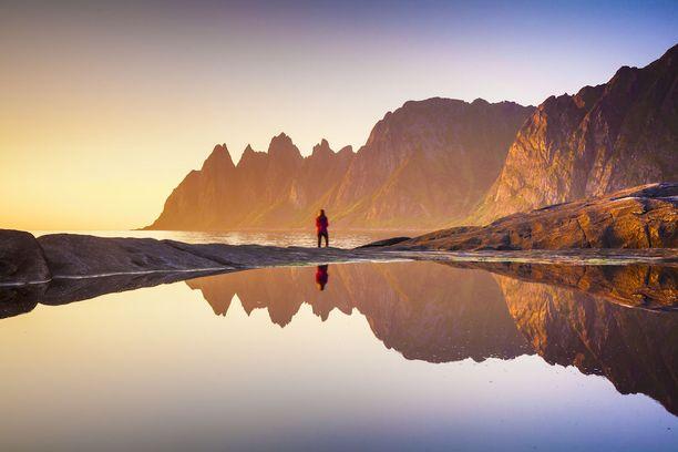 Näkymä Senjalta, Norjan toiseksi suurimmalta saarelta. Senja löytyy Tromssan läheltä.