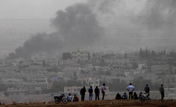 Turkin rajalla seurattiin Kobanessa kiihtyneitä taisteluja.