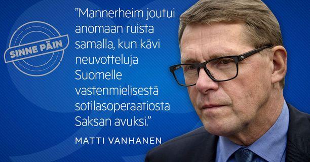 Faktantarkastuksessa syynätään tällä kertaa Matti Vanhasen väitettä.