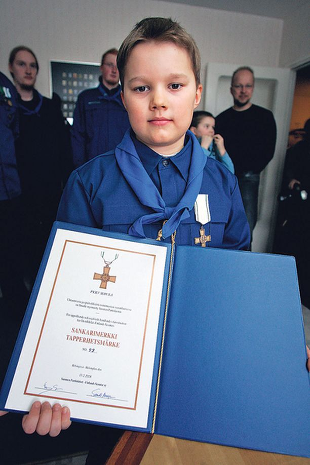 Pyry Simula sai kunnian olla 49. sankarimerkin saaja.