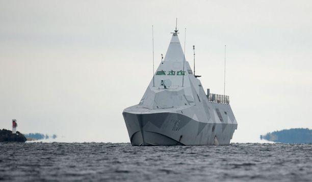 Ruotsin edustalla etsittiin sukellusvenettä viime vuoden lokakuussa.