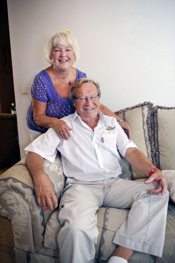 Anna-Liisa ja Jorma Pulkkinen ovat olleet naimisissa 56 vuotta.