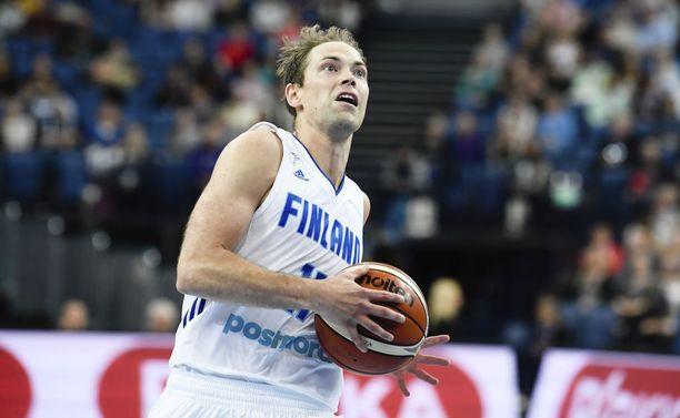 Petteri Koponen oli mukana valmistavassa ottelussa Venäjää vastaan viime perjantaina ja pelasi runsaat 26 minuuttia.