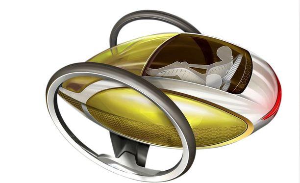 Mercedeksen suunnittelu-toimiston sähköriksa on äärimmäisen kevyt ja hyvin virtaviivainen.