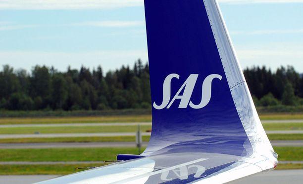 Lentoyhtiö SAS vahvistaa Iltalehdelle, että muutos digitaalisella alustalla on aiheuttanut häiriöitä varauksissa. Kuvituskuva.