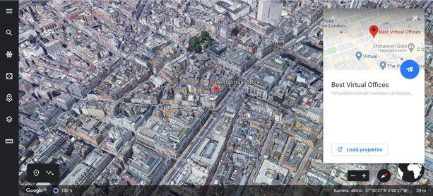 Onni Sarmasteen LDN Legal Partners Ltd:llä on virtuaalitoimisto Regent Streetillä Lontoossa.