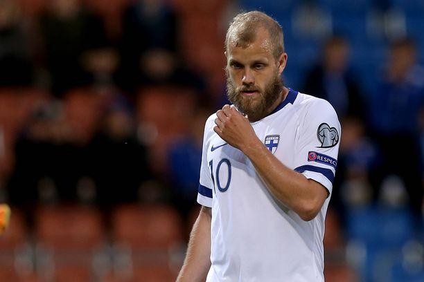 Teemu Pukki iski kahdessa viimeisessä EM-karsintaottelussa yhteensä kolme maalia Bosnia ja Hertsegovinan ja Liechtensteinin verkkoihin.