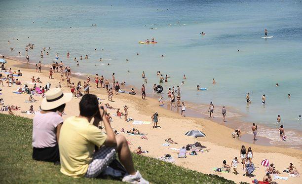 Hellepäivän viettoa San Sebastianissa Espanjassa.