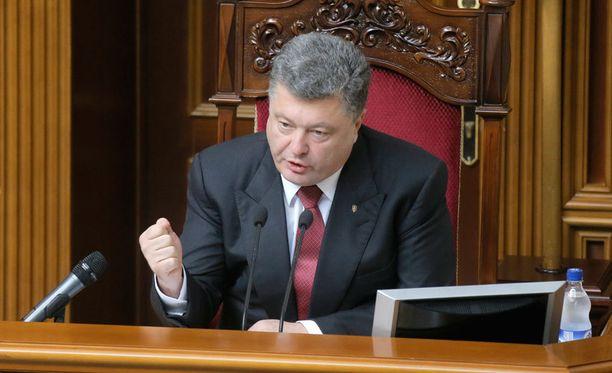 Ukrainan presidentti Petro Poroshenko.