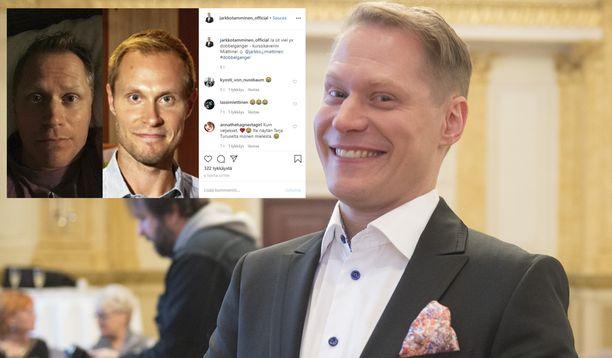 Koomikko Jarkko Tamminen ja näyttelijä Jarkko Miettinen muistuttavat toisiaan.