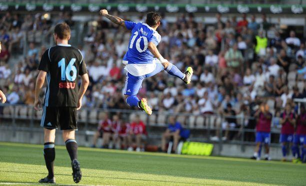Moshtagh Yaghoubi tuuletti 3-0-osumaansa näyttävästi.