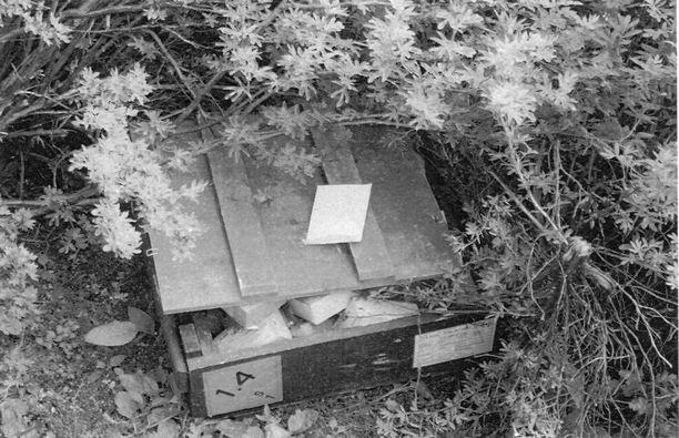 Varkaudella viety patruunalaatikko löytyi maastoon kätkettynä.