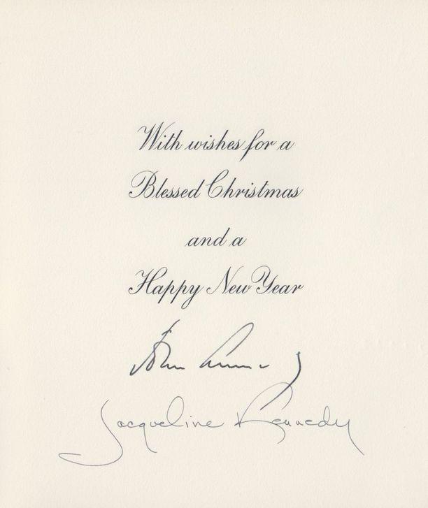 Vuonna 1961 saapui Kekkoselle Yhdysvalloista joulukortti, jossa allekirjoittajina olivat John F. ja Jacqueline Kennedy. Kekkonen oli käynyt Kennedyjen vieraana Valkoisessa talossa pari kuukautta aiemmin lokakuussa 1961.