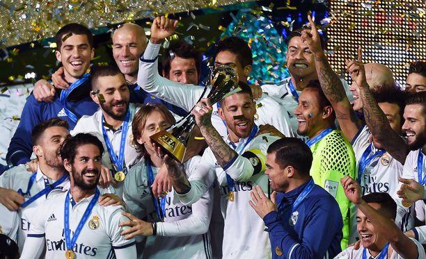Real Madrid juhli viikonloppuna seurajoukkueiden maailmanmestaruutta.