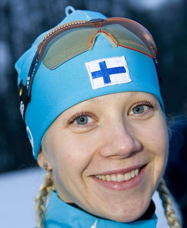 Kaisa Mäkäräinen nosti sijoitustaan maailmancupissa.
