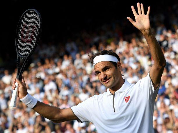 Roger Federer on hallinnut Wimbledonin viheriötä vuosien saatossa.