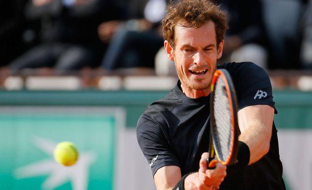 Andy Murray oli hermostunut avausottelussaan.