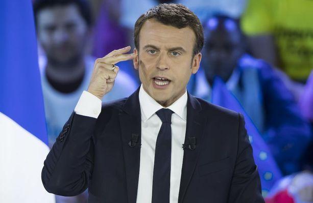 Emmanuel Macron, 39, johtaa tällä hetkellä Ranskan presidenttikisaa.