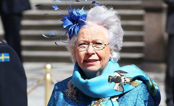 Prisnsessa Christina osallistui keväällä kuninkaan 70-vuotisjuhallisuuksiin.