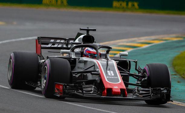 Romain Grosjeanin ja Haasin kisaviikonloppu päättyi rajuun pettymykseen.