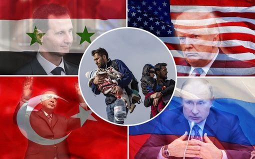 Putin ja Erdogan istuvat neuvottelupöytään – IL esittelee vuosia jatkuneen Syyrian sodan pelurit Assadista Trumpiin