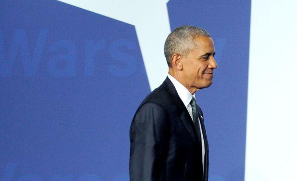 Presidentti Obama Varsovassa.
