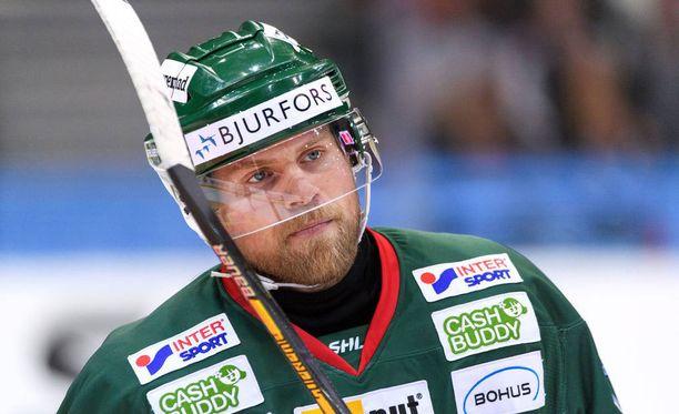 Sean Bergenheim pelaan tällä kaudella Ruotsissa Frölundan joukkueessa.
