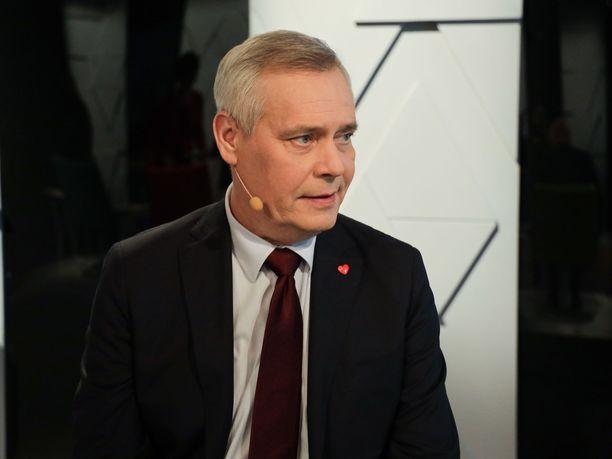 SDP:n puheenjohtaja Antti Rinne on tämänhetkisten kannatusmittausten perusteella vahvimmin kiinni pääministerin paikassa.