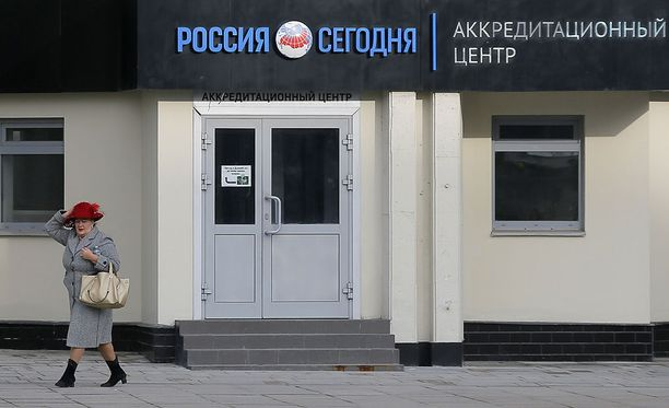 Rossija Segodnja eli Russia Today -toimituksen päämaja Moskovassa.