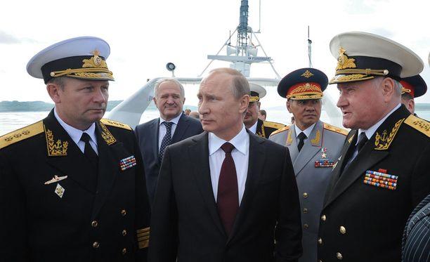 Putin vieraili viime kesänä Pohjoisen laivaston tukikohdassa Severomorskissa.