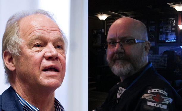 Kuin kaksi marjaa - tai sitten ei. Andrew Crozieria (oikealla) luultiin silti Hexi Riihirannaksi.