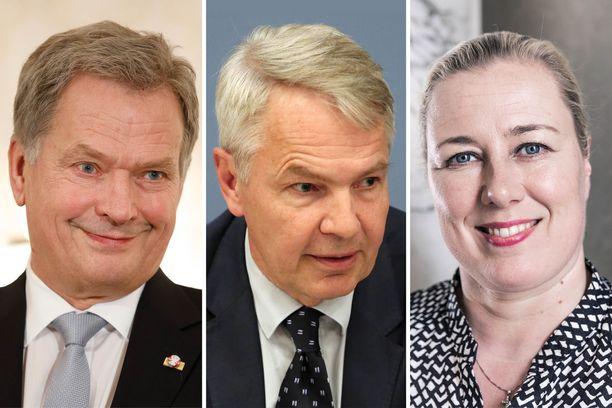 Niinistö, Haavisto ja Urpilainen. Pörssikärjessä.