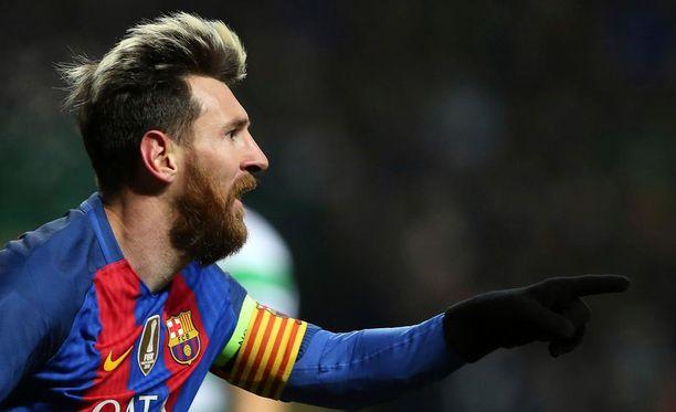 Leo Messi tavoittelee tiistaina Mestarien liigan alkulohkon maaliennätystä.
