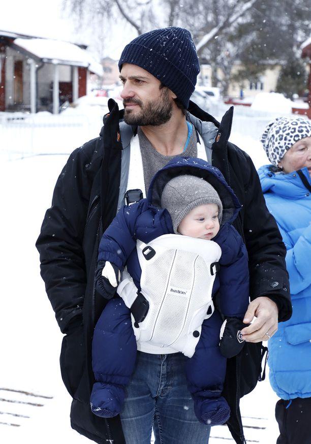 Carl Philip ja Gabriel olivat seuraamassa hiihtokilpailuja viime huussa Morassa.