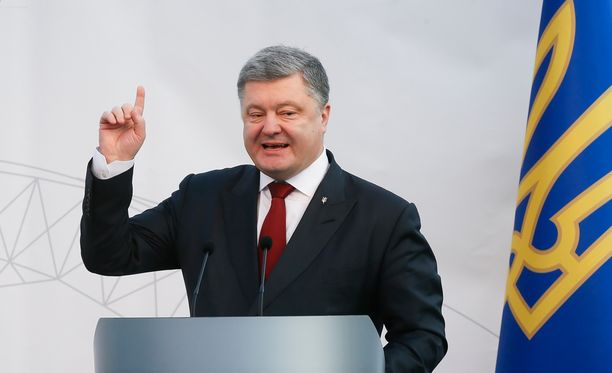Ukrainan presidentti Petro Poroshenko tapaa presidentti Sauli Niinistön Suomessa.