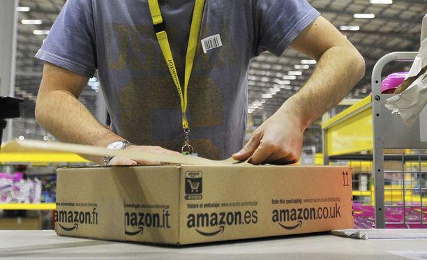 Amazonin varaston työoloja kuvaillaan kaameiksi. Kuvituskuva.