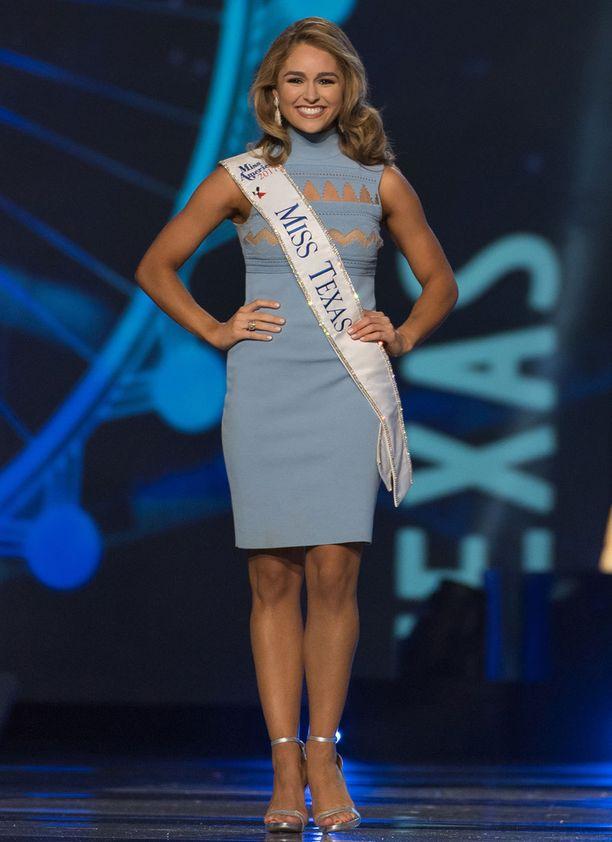 Miss Texas Margana Wood laittoi vastauksellaan luun kurkkuun presidentti Trumpille.