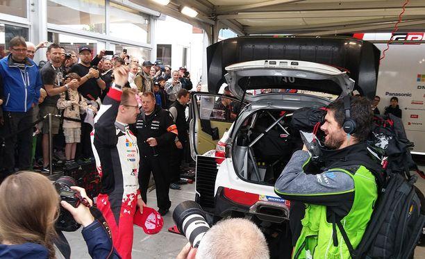 Jari-Matti Latvala on nimekkäin Toyotan suomalaiskolmikosta.