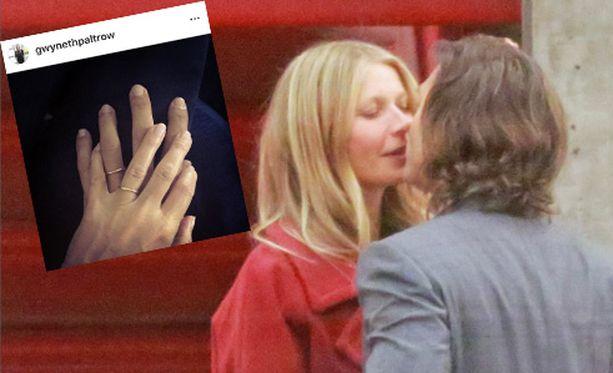 Gwyneth Paltrow ja Brad Falchuk vihittiin lauantaina. Gwyneth esitteli vihkisormusta Instagramissa.