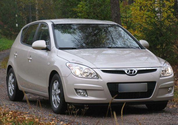 Saksan tiepalvelu on joutunut auttamaan useimmin tätä automallia: 2008 vuoden Hyundai i30.