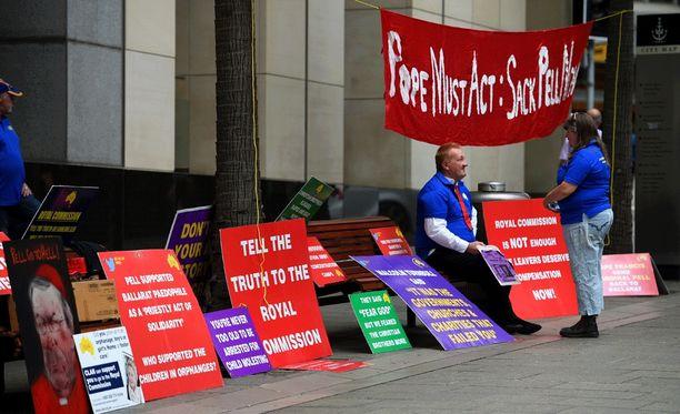 Hyväksikäytön uhrit ja omaiset ovat vaatineet oikeutta Australiassa jo vuosien ajan. Kuva Sydneysta helmikuulta 2016.