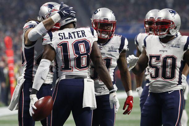 New England Patriots pääsi juhlimaan seurahistorian kuudetta Super Bowl -mestaruutta.