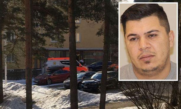 Murhan yrityksestä epäilty mies pakenee yhä poliisia.